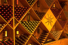 Wine Cellar. Wine Bottles at Sula Vineyards royalty free stock images