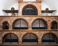 Wine cellar brick vault Stock Photos