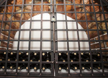 Wine cellar brick vault Royalty Free Stock Photo
