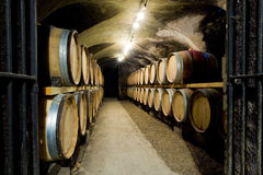 Wine cellar in Burgundy Royalty Free Stock Photos