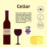Wine cellar decorative  illustration Stock Images