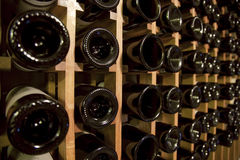 Wine cellar detail Royalty Free Stock Photo