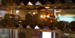 Wine cellar. Filled with wine bottles Stock Image