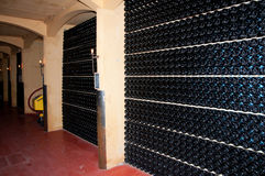 Wine cellar (Italy, Franciacorta) Stock Photography
