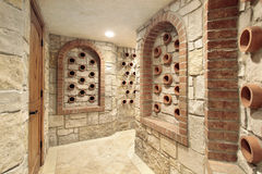 Wine cellar in luxury home Stock Photography