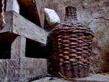 Wine cellar in an old house ruined. Wine cellar in an old house Stock Image