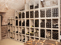 Wine cellar with old riesling Royalty Free Stock Images