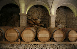 Wine cellar. An old cellar of a traditional wine producer Royalty Free Stock Images