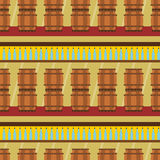 Wine cellar seamless background design Stock Images