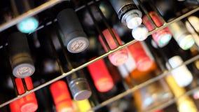 Wine cellar. Shelf bottle cork stopper stock photos