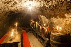 Wine cellar, Slovakia Stock Image