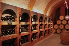 Wine Cellar in Spain. One of the most importan cellar wine in Spain, Ribera de Duero Royalty Free Stock Photo