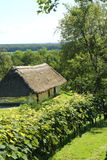 Wine cellar thatched with straw Stock Images