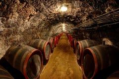 Wine cellar. In Tokaj, Hungary Stock Photos