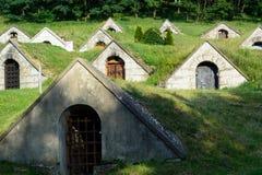 Wine cellars in Hercegkut Stock Image