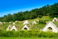Wine cellars in Tokaj region - Hercegkut Sarospatak Hungary Royalty Free Stock Image