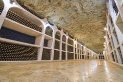 Wine cellars in winery royalty free stock photo