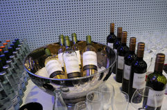 WINE AND CHAMPAGNE Stock Photo
