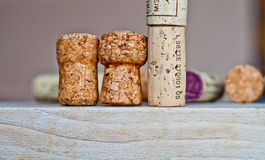 Wine and champagne cork Royalty Free Stock Image
