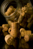 Of wine and champagne corks Stock Image