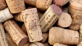 Wine and champagne corks rotate stock video footage
