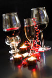 Wine and champagne glasses Royalty Free Stock Photo