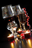 Wine and champagne glasses Royalty Free Stock Photography