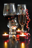 Wine and champagne glasses Stock Photos