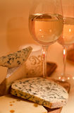 Wine with cheese Stock Image