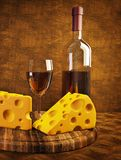 Wine and cheese Royalty Free Stock Photos