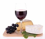 Wine and cheese Stock Images