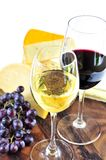 Wine and cheese Stock Photos