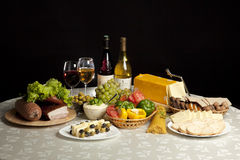 Free Wine, Cheese And Fruits Stock Photography - 19160402