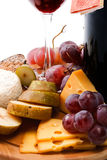 Wine and cheese close-up Royalty Free Stock Photos
