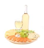 Wine and cheese composition. Stock Photo