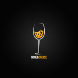 Wine and cheese design background Stock Photos