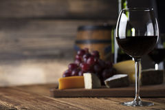 Wine and cheese. Royalty Free Stock Photo