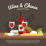 Wine And Cheese Life Still Royalty Free Stock Photos