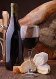Wine,cheese and serrano ham Royalty Free Stock Image