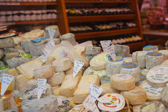 Wine and Cheese Shop. French Wine and Cheese Shop in Paris royalty free stock photos