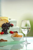 Wine and Cheese Table Stock Photo