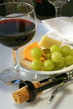 Wine and Cheese -- Traditional Stock Photo