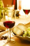 Wine and cheese0. Red wine and italian pecorino cheese stock photo