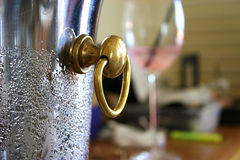 Wine Chiller. A wet, cold wine chiller Royalty Free Stock Photography