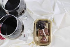 Wine and chocolate Royalty Free Stock Image