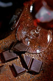 Wine and chocolate stock image