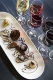 Wine and Chocolates Stock Photos