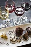 Wine and Chocolates Stock Photo