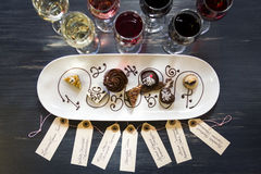 Wine and Chocolates Stock Photos