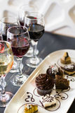 Wine and Chocolates Stock Images